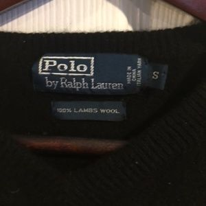 Polo Ralph Lauren Black Wool Sweater Sz S EUC